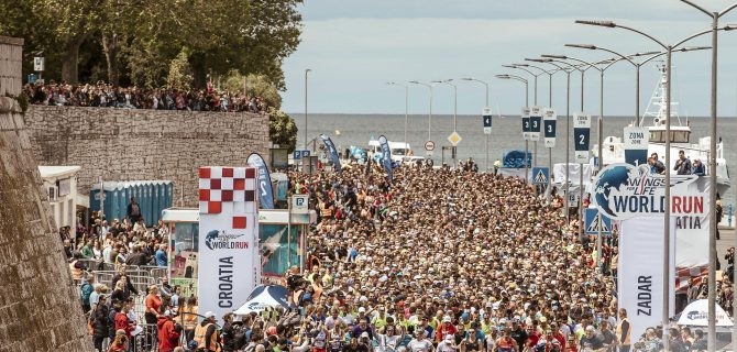Participants start during the sixth edition of the Wings for Life World Run in Zadar, Croatia on May 5, 2019.